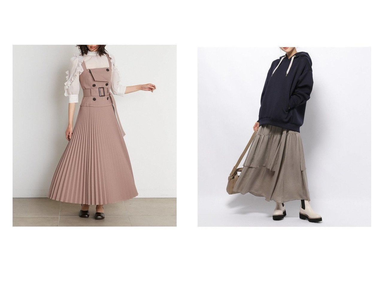 【BARNYARDSTORM/バンヤードストーム】のサテンアシメギャザーSK&【SNIDEL/スナイデル】のトレンチジャンパースカート 【スカート】おすすめ!人気、トレンド・レディースファッションの通販 おすすめで人気の流行・トレンド、ファッションの通販商品 インテリア・家具・メンズファッション・キッズファッション・レディースファッション・服の通販 founy(ファニー) https://founy.com/ ファッション Fashion レディースファッション WOMEN スカート Skirt シャーリング ストレッチ チェック ツイル フィット プリーツ マキシ ロング |ID:crp329100000071379