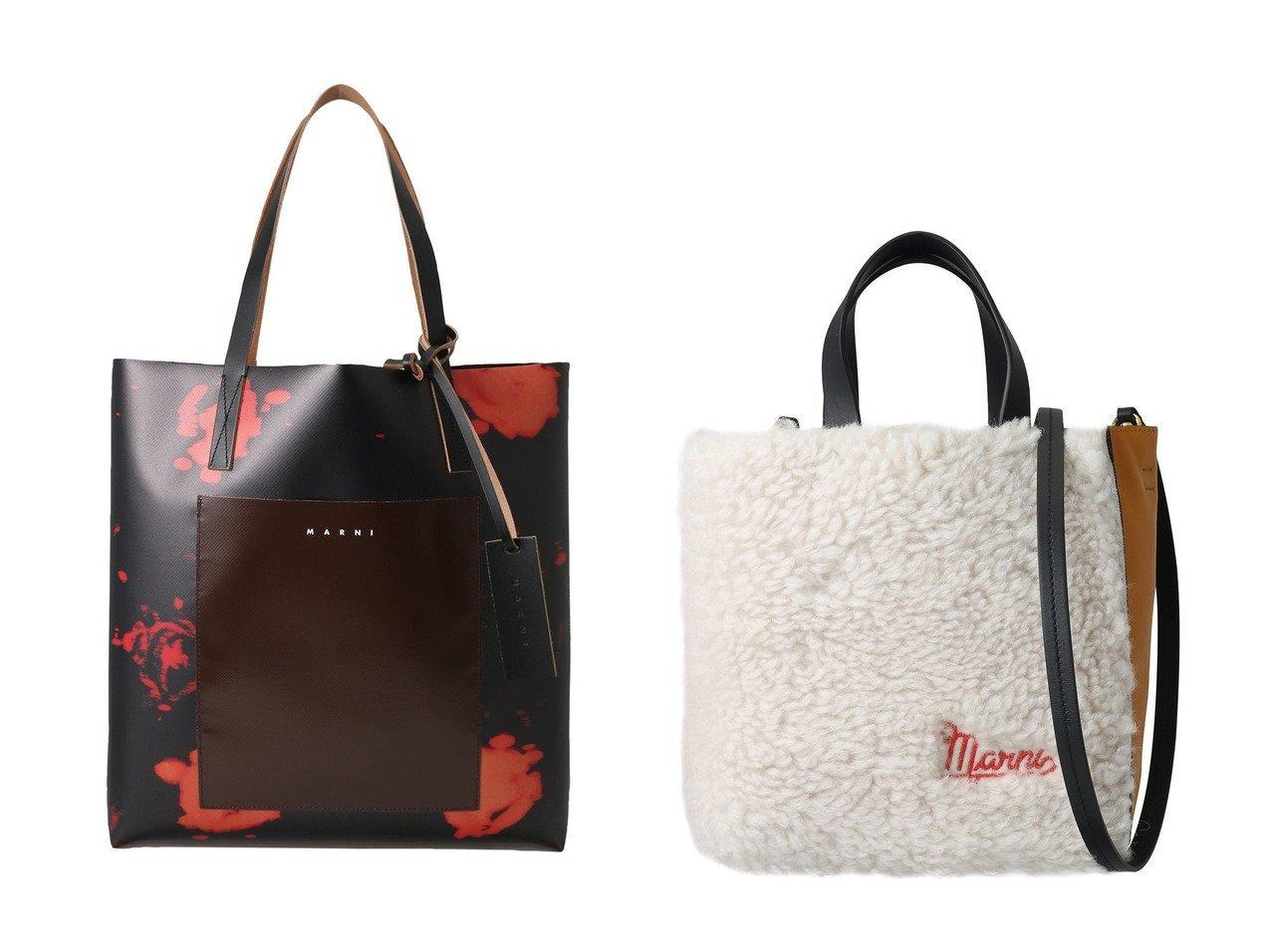 【MARNI/マルニ】のSHOPPING ポケット付きプリントトートバッグ&MUSEO SOFT MINI 2wayラムファートートバッグ 【バッグ・鞄】おすすめ!人気、トレンド・レディースファッションの通販 おすすめで人気の流行・トレンド、ファッションの通販商品 インテリア・家具・メンズファッション・キッズファッション・レディースファッション・服の通販 founy(ファニー) https://founy.com/ ファッション Fashion レディースファッション WOMEN バッグ Bag コンビ フォルム ラグジュアリー スクエア チャーム プリント ポケット 無地  ID:crp329100000071415