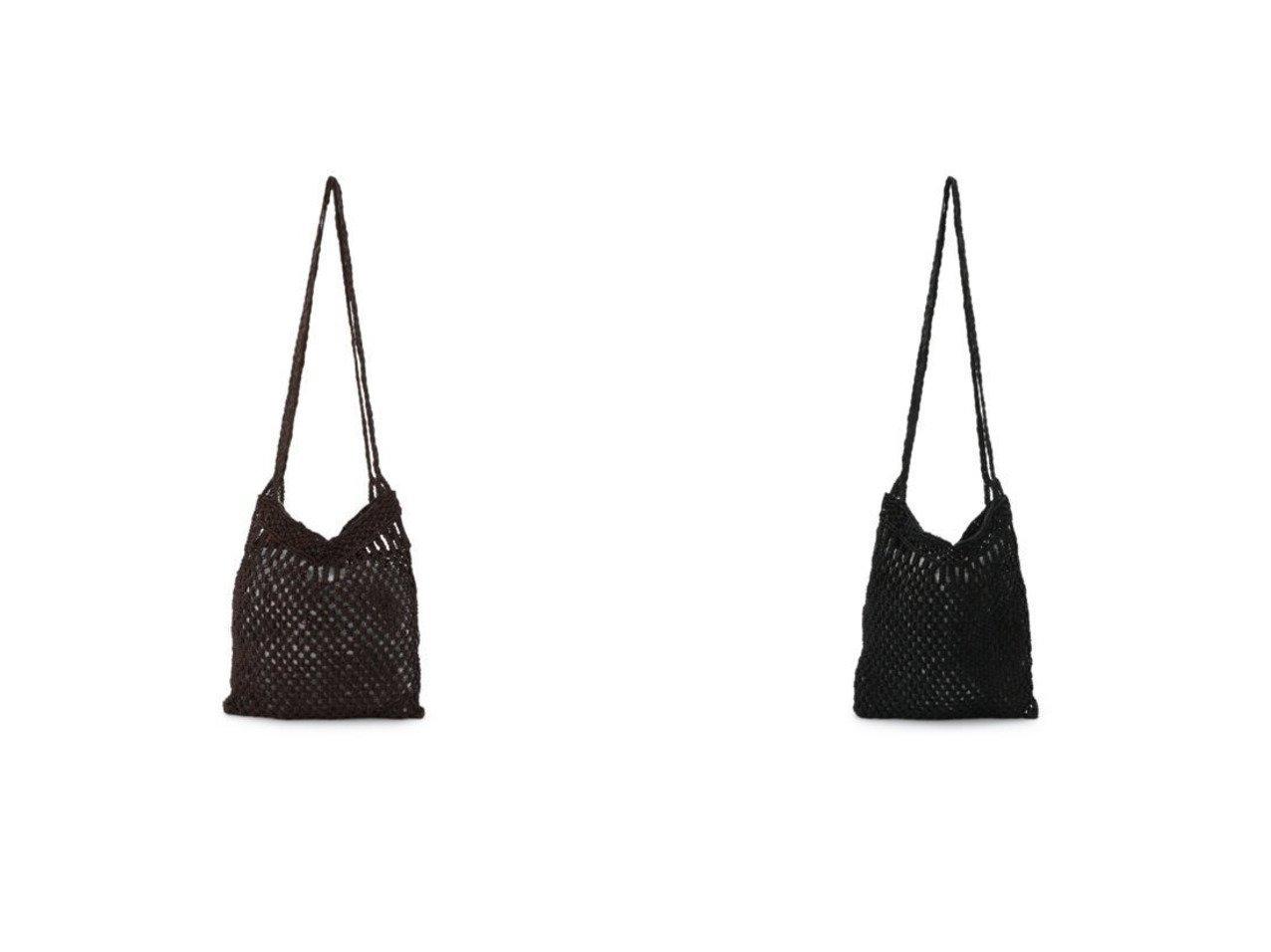 【PLAIN PEOPLE/プレインピープル】の【dragon】レザーメッシュマクラメ編みショルダーバッグ MACRAME BUM BAG 【バッグ・鞄】おすすめ!人気、トレンド・レディースファッションの通販 おすすめで人気の流行・トレンド、ファッションの通販商品 インテリア・家具・メンズファッション・キッズファッション・レディースファッション・服の通販 founy(ファニー) https://founy.com/ ファッション Fashion レディースファッション WOMEN バッグ Bag クラシカル スタイリッシュ プレート  ID:crp329100000071433