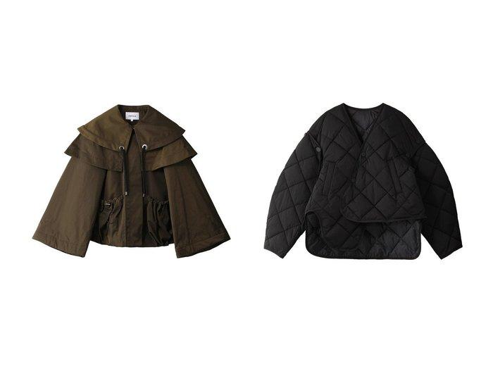 【ENFOLD/エンフォルド】のメモリーツイル BIGカラーショートジャケット&SOLOTEXツイル キルティングジャケット 【アウター】おすすめ!人気、トレンド・レディースファッションの通販 おすすめ人気トレンドファッション通販アイテム 人気、トレンドファッション・服の通販 founy(ファニー)  ファッション Fashion レディースファッション WOMEN アウター Coat Outerwear ジャケット Jackets キルティング ジャケット ストレッチ ツイル フィット ベスト ショート スリーブ ビッグ フレア |ID:crp329100000071453