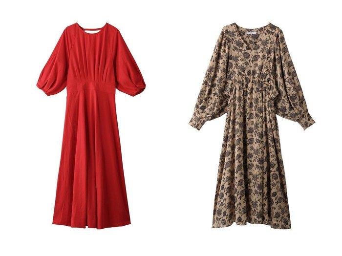 【ROSE BUD/ローズバッド】のボリュームスリーブワンピース&バックオープンワンピース 【ワンピース・ドレス】おすすめ!人気、トレンド・レディースファッションの通販 おすすめ人気トレンドファッション通販アイテム 人気、トレンドファッション・服の通販 founy(ファニー) ファッション Fashion レディースファッション WOMEN ワンピース Dress チュニック Tunic チュニック パーティ ロング |ID:crp329100000071494