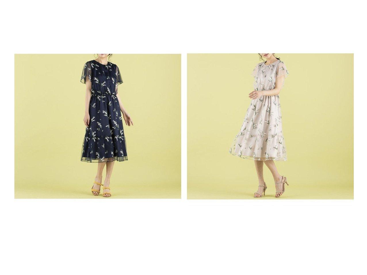 【Rose Tiara/ローズティアラ】のスズランチュール刺繍ワンピース 【ワンピース・ドレス】おすすめ!人気、トレンド・レディースファッションの通販 おすすめで人気の流行・トレンド、ファッションの通販商品 インテリア・家具・メンズファッション・キッズファッション・レディースファッション・服の通販 founy(ファニー) https://founy.com/ ファッション Fashion レディースファッション WOMEN ワンピース Dress コレクション ジュエル チュール ドレス フェミニン リボン レース 夏 Summer |ID:crp329100000071507