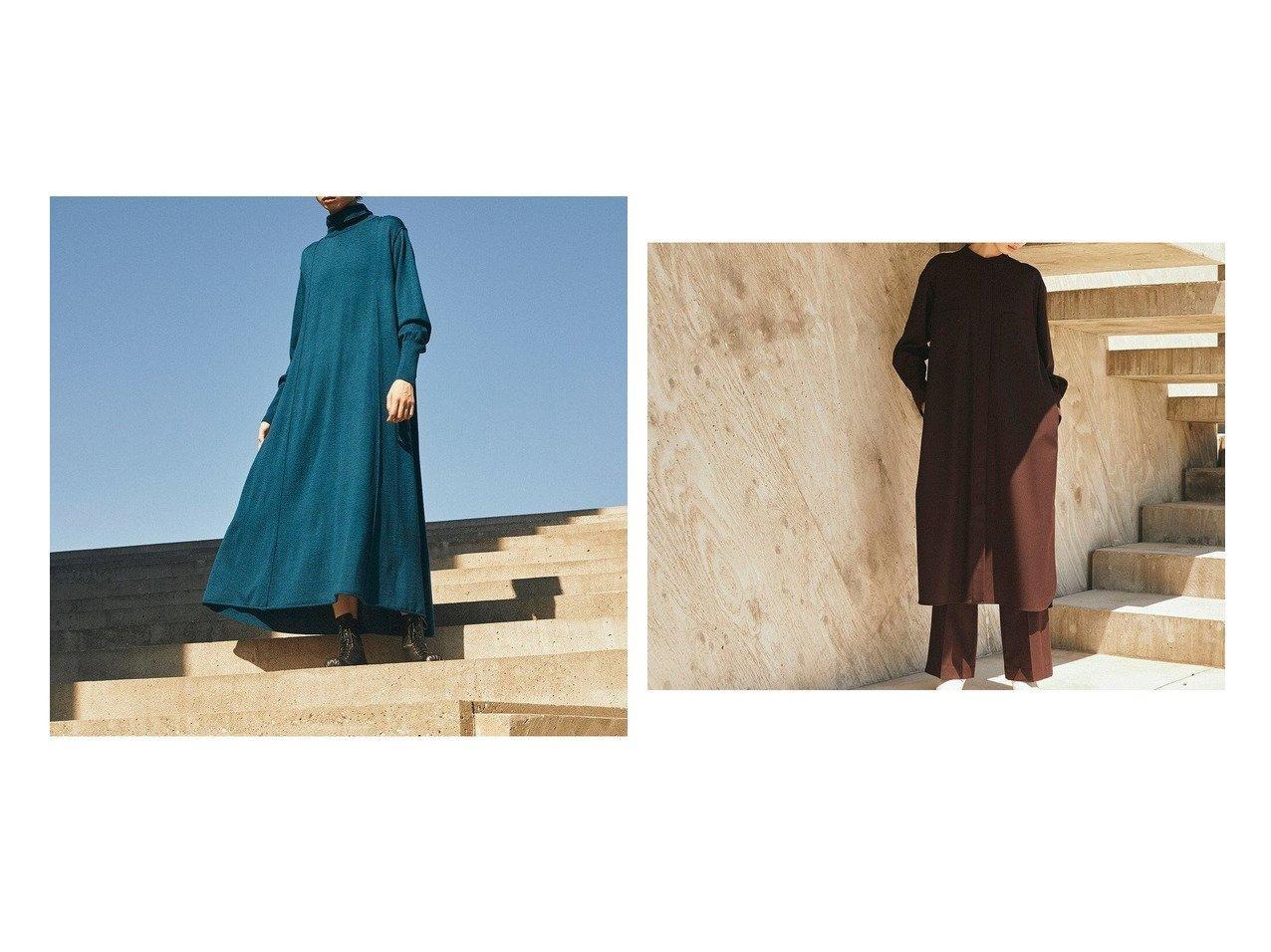 【ONWARD Design Diversity/オンワード デザイン ダイバーシティ】の【ONWARD DD】ハイゲージウール フレアニットドレス&【ONWARD DD】ウールポリエステル スタンドカラー シャツドレス 【ワンピース・ドレス】おすすめ!人気、トレンド・レディースファッションの通販 おすすめで人気の流行・トレンド、ファッションの通販商品 インテリア・家具・メンズファッション・キッズファッション・レディースファッション・服の通販 founy(ファニー) https://founy.com/ ファッション Fashion レディースファッション WOMEN ワンピース Dress ドレス Party Dresses スタンド タートルネック ドレス ポケット 送料無料 Free Shipping |ID:crp329100000071516