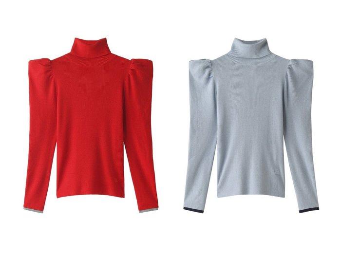【LANVIN en Bleu/ランバン オン ブルー】のギャザーショルダーリブタートルニット 【トップス・カットソー】おすすめ!人気、トレンド・レディースファッションの通販 おすすめ人気トレンドファッション通販アイテム 人気、トレンドファッション・服の通販 founy(ファニー)  ファッション Fashion レディースファッション WOMEN トップス・カットソー Tops/Tshirt ニット Knit Tops プルオーバー Pullover ギャザー クラシカル ショルダー タートル フェミニン ワイド |ID:crp329100000071541