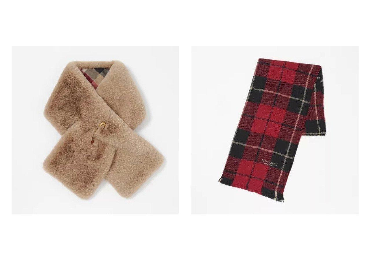 【BLUE LABEL CRESTBRIDGE/ブルーレーベル クレストブリッジ】のフェイクファーティペット&ライトウエイトタータンチェックストール おすすめ!人気、トレンド・レディースファッションの通販 おすすめで人気の流行・トレンド、ファッションの通販商品 インテリア・家具・メンズファッション・キッズファッション・レディースファッション・服の通販 founy(ファニー) https://founy.com/ ファッション Fashion レディースファッション WOMEN ストール Scarves マフラー Mufflers カシミヤ シルク スカーフ ストール マフラー キルト フェイクファー ワンポイント 無地 |ID:crp329100000071688
