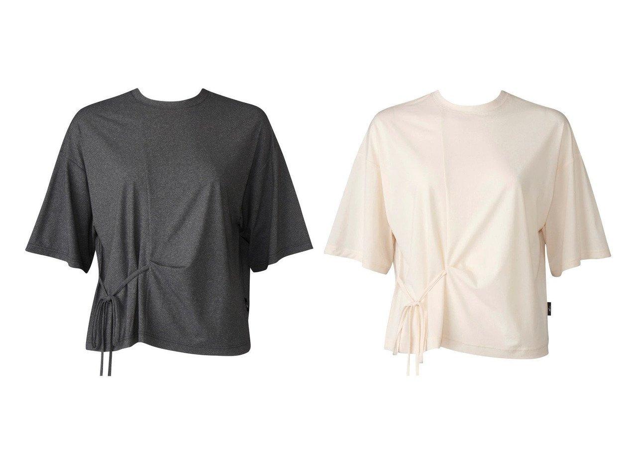 【CW-X/シーダブリューエックス】の【WOMEN】アウター Tシャツ 半袖ワコール DFY571 【スポーツウェア・ヨガ・フィットネス・ダイエット】おすすめ!人気、トレンド・レディースファッションの通販 おすすめで人気の流行・トレンド、ファッションの通販商品 インテリア・家具・メンズファッション・キッズファッション・レディースファッション・服の通販 founy(ファニー) https://founy.com/ ファッション Fashion レディースファッション WOMEN アウター Coat Outerwear トップス・カットソー Tops/Tshirt シャツ/ブラウス Shirts/Blouses ロング / Tシャツ T-Shirts 送料無料 Free Shipping ギャザー ストレッチ 半袖  ID:crp329100000071758