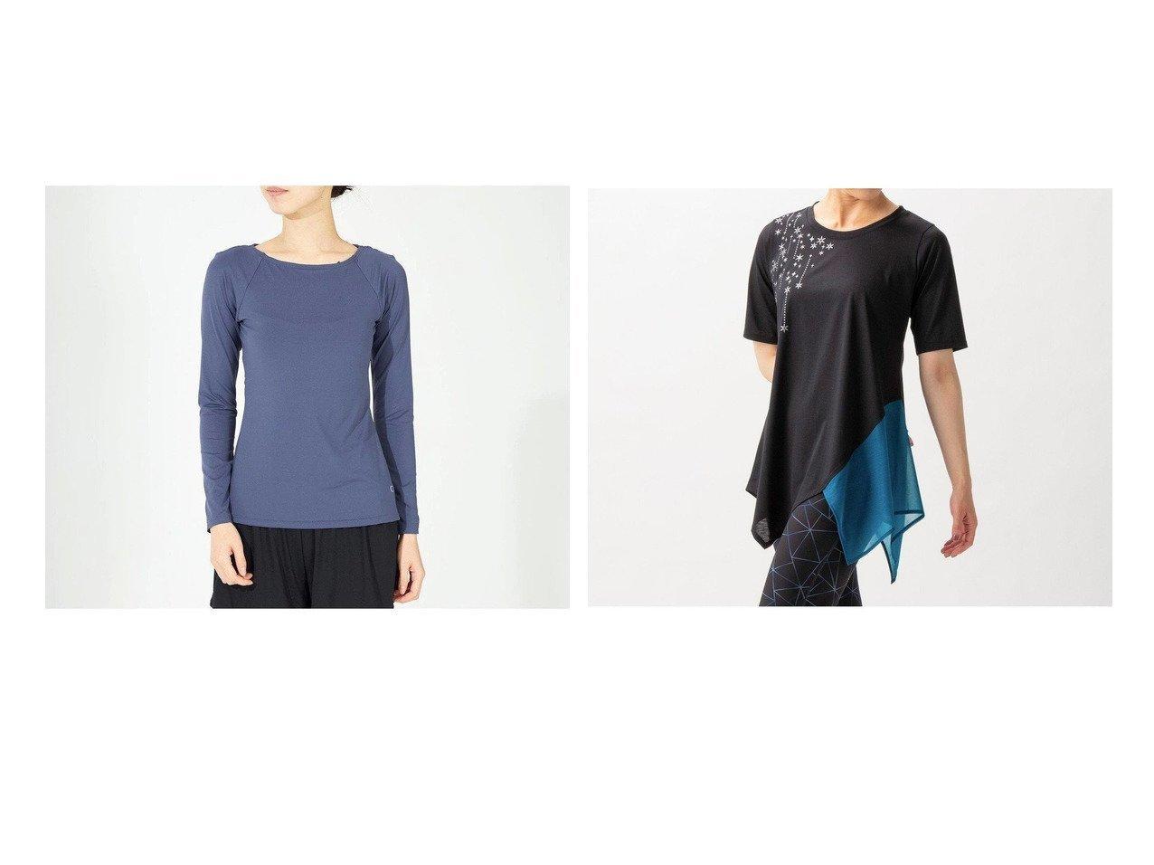 【Chacott/チャコット】のロングスリーブトップ&イレギュラーヘムワンピースTシャツ 【スポーツウェア・ヨガ・フィットネス・ダイエット】おすすめ!人気、トレンド・レディースファッションの通販 おすすめで人気の流行・トレンド、ファッションの通販商品 インテリア・家具・メンズファッション・キッズファッション・レディースファッション・服の通販 founy(ファニー) https://founy.com/ ファッション Fashion レディースファッション WOMEN ワンピース Dress トップス・カットソー Tops/Tshirt イレギュラー ストレッチ ヘムライン 軽量 おすすめ Recommend ショート スリーブ バレエ フィット レギンス ロング 人気 抗菌  ID:crp329100000071775