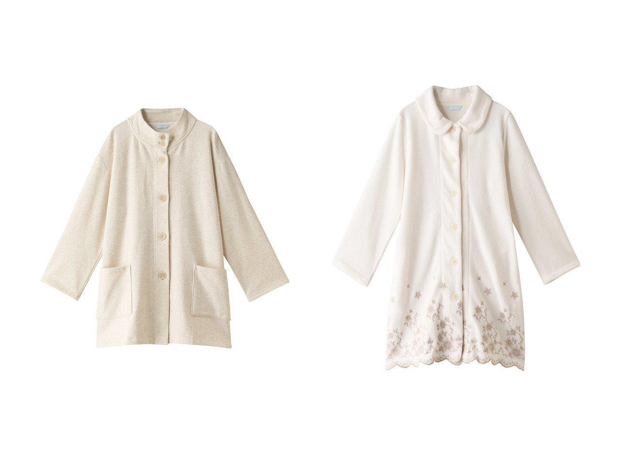 【KID BLUE/キッドブルー】の21裏シャギー無地ガウン&21フリースエンブガウン 【ルームウェア・パジャマ】おすすめ!人気、トレンド・レディースファッションの通販 おすすめで人気の流行・トレンド、ファッションの通販商品 インテリア・家具・メンズファッション・キッズファッション・レディースファッション・服の通販 founy(ファニー) https://founy.com/ ファッション Fashion レディースファッション WOMEN トップス・カットソー Tops/Tshirt お家時間・ステイホーム Home Time/Stay Home ガウン スカラップ フラワー A/W・秋冬 AW・Autumn/Winter・FW・Fall-Winter シンプル スタンド リラックス 無地 |ID:crp329100000071786