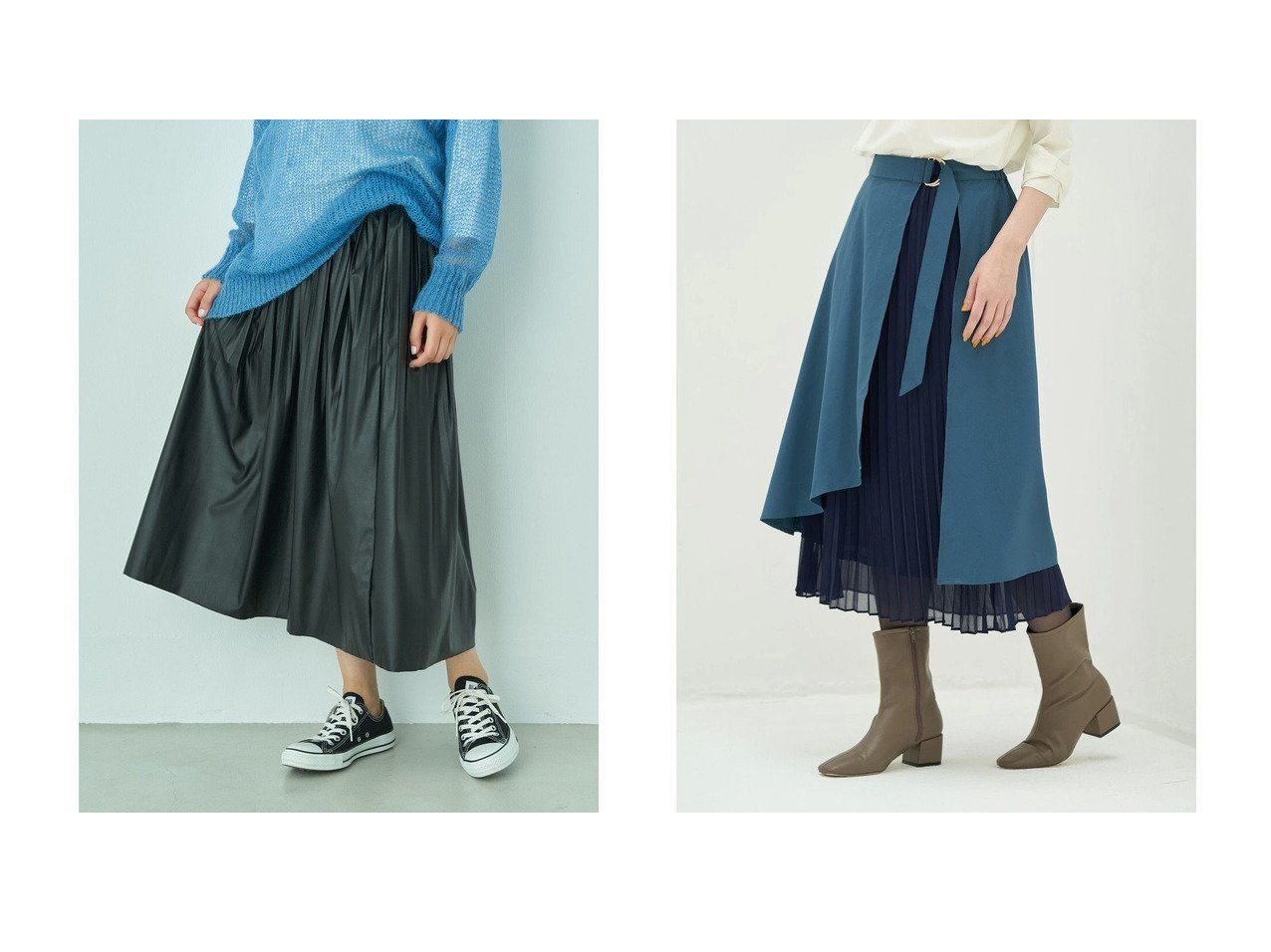 【YECCA VECCA/イェッカ ヴェッカ】のフェイクレザープリーツスカート&・2wayプリーツレイヤードスカート 【スカート】おすすめ!人気、トレンド・レディースファッションの通販 おすすめで人気の流行・トレンド、ファッションの通販商品 インテリア・家具・メンズファッション・キッズファッション・レディースファッション・服の通販 founy(ファニー) https://founy.com/ ファッション Fashion レディースファッション WOMEN スカート Skirt プリーツスカート Pleated Skirts 送料無料 Free Shipping エレガント セパレート プリーツ フェイクレザー フェミニン フレア ロング  ID:crp329100000071814
