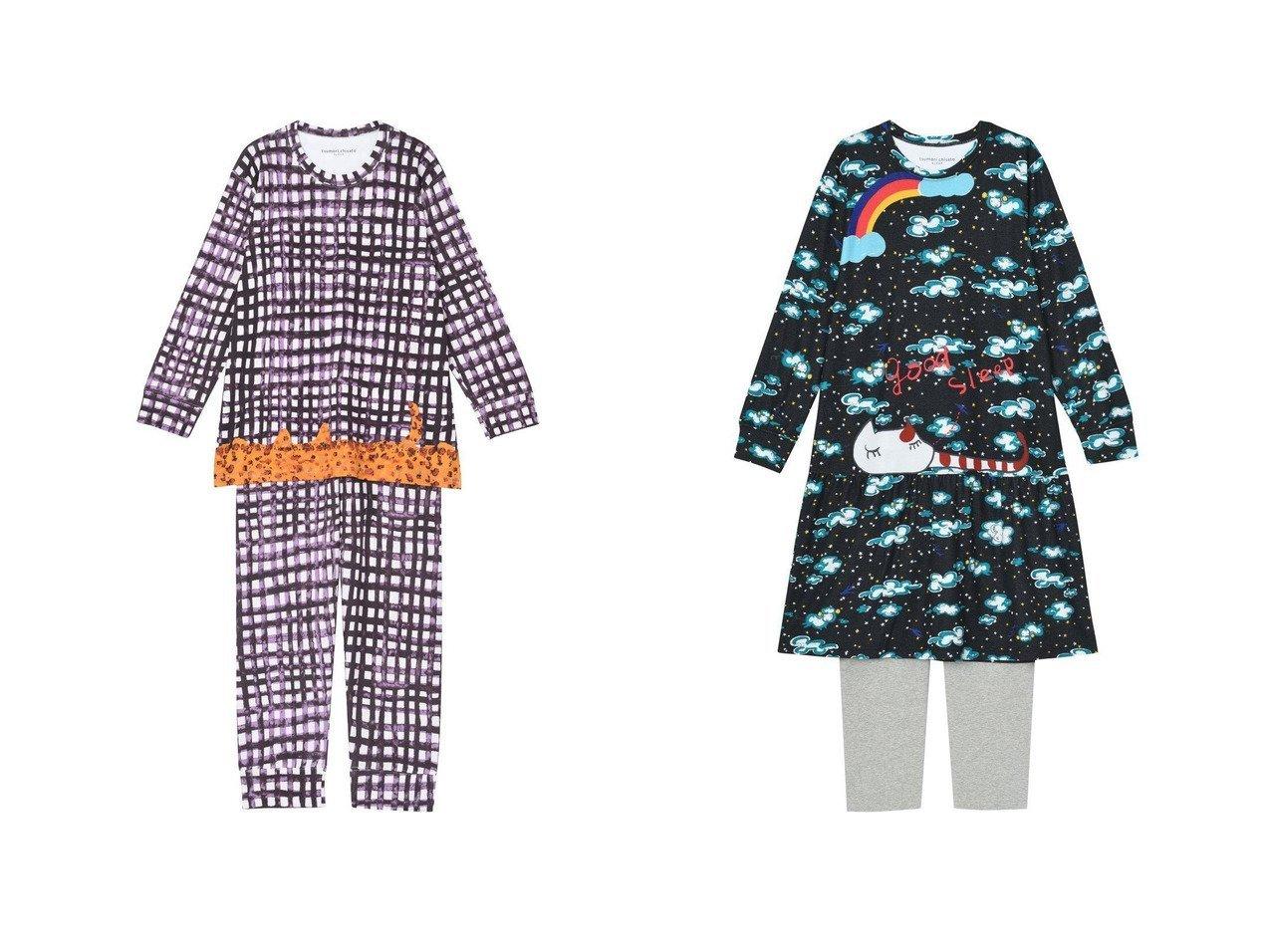 【tsumori chisato SLEEP/ツモリチサト スリープ】のパジャマ ロング袖ロングパンツ 手描き水彩のギンガムチェックワコール UDX511&パジャマ ロング袖ロングパンツ 眠りにつくネコワコール UDX510 おすすめ!人気、トレンド・レディースファッションの通販 おすすめで人気の流行・トレンド、ファッションの通販商品 インテリア・家具・メンズファッション・キッズファッション・レディースファッション・服の通販 founy(ファニー) https://founy.com/ ファッション Fashion レディースファッション WOMEN パンツ Pants 送料無料 Free Shipping アンダー ネコ パジャマ ロング 秋 Autumn/Fall  ID:crp329100000072064