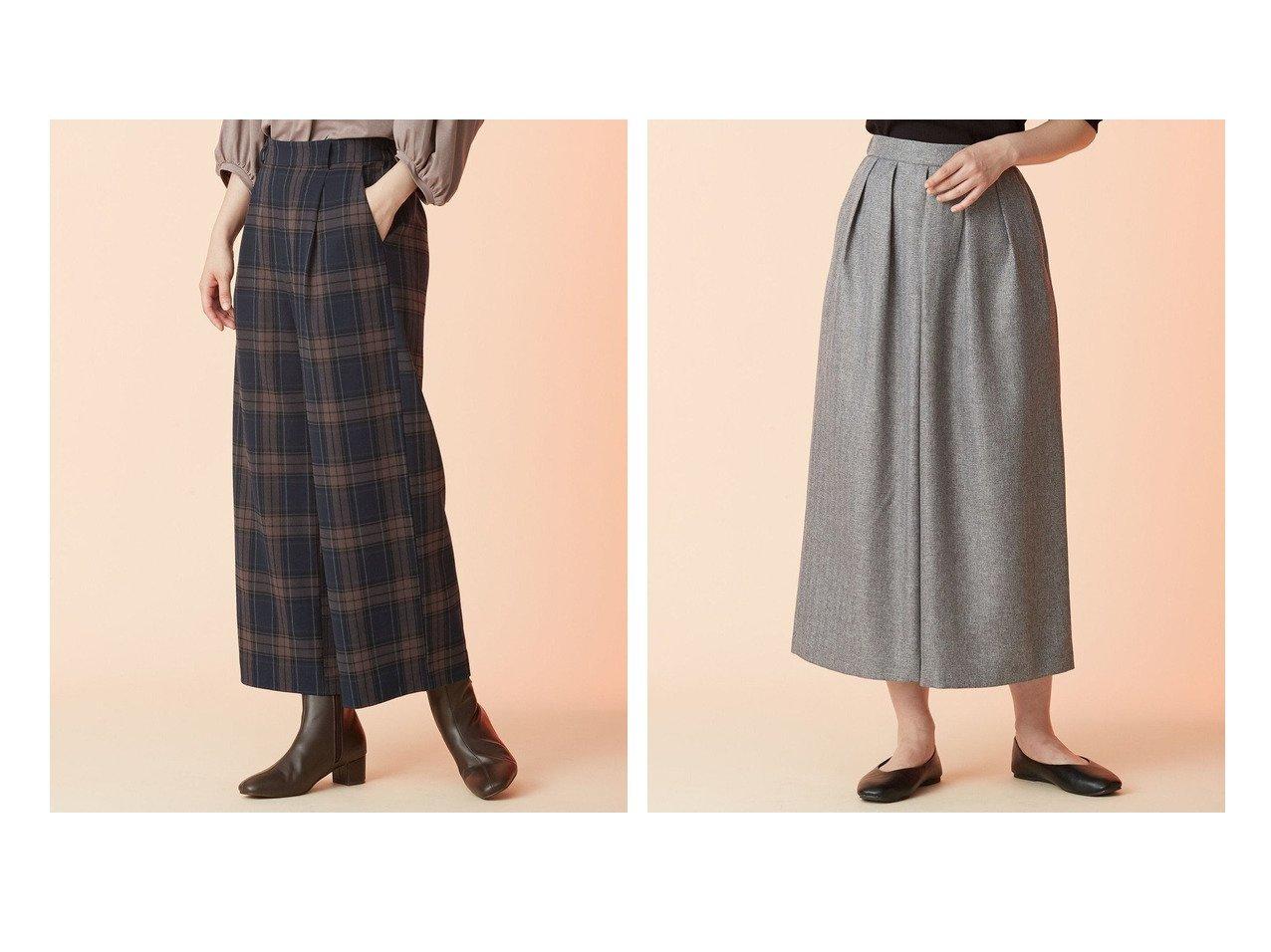 【any FAM/エニィファム】のソフトチェックワイド パンツ&イージーケアヘリンボン パンツ 【プチプライス・低価格】おすすめ!人気、トレンド・レディースファッションの通販 おすすめで人気の流行・トレンド、ファッションの通販商品 インテリア・家具・メンズファッション・キッズファッション・レディースファッション・服の通販 founy(ファニー) https://founy.com/ ファッション Fashion レディースファッション WOMEN パンツ Pants 送料無料 Free Shipping A/W・秋冬 AW・Autumn/Winter・FW・Fall-Winter クラシック チェック フロント ワイド |ID:crp329100000072080