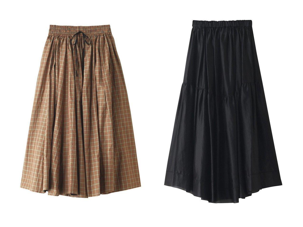 【BLAMINK/ブラミンク】のポリエステルチェックギャザースカート&シルクギャザーロングスカート 【スカート】おすすめ!人気、トレンド・レディースファッションの通販 おすすめで人気の流行・トレンド、ファッションの通販商品 インテリア・家具・メンズファッション・キッズファッション・レディースファッション・服の通販 founy(ファニー) https://founy.com/ ファッション Fashion レディースファッション WOMEN スカート Skirt ロングスカート Long Skirt チェック フレア ロング 秋 Autumn/Fall エアリー シアー シルク パーティ フェミニン |ID:crp329100000072094