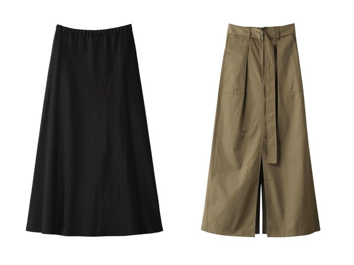 【LE PHIL/ル フィル】のクラシックサテンスカート&【Whim Gazette/ウィムガゼット】の【THE PAUSE】ベイカータイトスカート 【スカート】おすすめ!人気、トレンド・レディースファッションの通販 おすすめ人気トレンドファッション通販アイテム 人気、トレンドファッション・服の通販 founy(ファニー) ファッション Fashion レディースファッション WOMEN スカート Skirt ロングスカート Long Skirt サテン シンプル フレア ロング トレンド ファブリック マキシ モチーフ ワーク 定番 Standard |ID:crp329100000072098