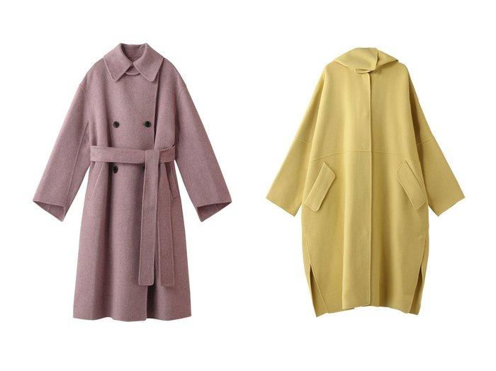 【LE CIEL BLEU/ルシェル ブルー】のダブルフェイスラップコート&フーデッドオーバーコート 【アウター】おすすめ!人気、トレンド・レディースファッションの通販 おすすめ人気トレンドファッション通販アイテム 人気、トレンドファッション・服の通販 founy(ファニー) ファッション Fashion レディースファッション WOMEN アウター Coat Outerwear コート Coats なめらか ダブル フェイス ロング シンプル ラップ 冬 Winter |ID:crp329100000072113