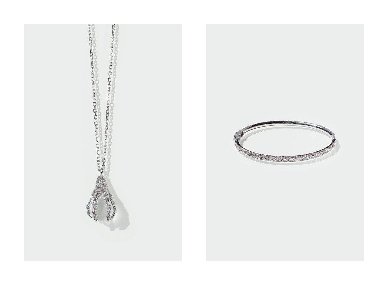 【AYAMI jewelry/アヤミ ジュエリー】のAvec Dinosaur ネックレス&Pave Straight バングル 【アクセサリー・ジュエリー】おすすめ!人気、トレンド・レディースファッションの通販 おすすめで人気の流行・トレンド、ファッションの通販商品 インテリア・家具・メンズファッション・キッズファッション・レディースファッション・服の通販 founy(ファニー) https://founy.com/ ファッション Fashion レディースファッション WOMEN ジュエリー Jewelry ブレスレット Bracelets バングル Bangles ネックレス Necklaces シンプル バングル 再入荷 Restock/Back in Stock/Re Arrival 時計 コレクション ネックレス フォルム  ID:crp329100000072205