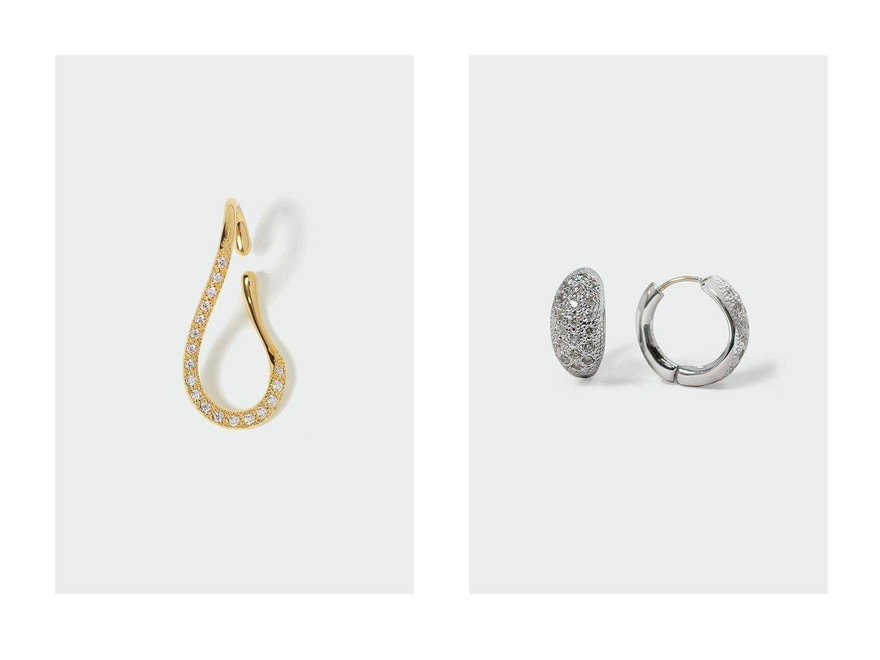 【AYAMI jewelry/アヤミ ジュエリー】のWavy Oval イヤーカフ(片耳用)&Marquise Pave ピアス 【アクセサリー・ジュエリー】おすすめ!人気、トレンド・レディースファッションの通販 おすすめで人気の流行・トレンド、ファッションの通販商品 インテリア・家具・メンズファッション・キッズファッション・レディースファッション・服の通販 founy(ファニー) https://founy.com/ ファッション Fashion レディースファッション WOMEN ジュエリー Jewelry リング Rings イヤリング Earrings おすすめ Recommend イヤリング イヤーカフ ドレス フープ ラグジュアリー 再入荷 Restock/Back in Stock/Re Arrival 片耳 フォルム  ID:crp329100000072210
