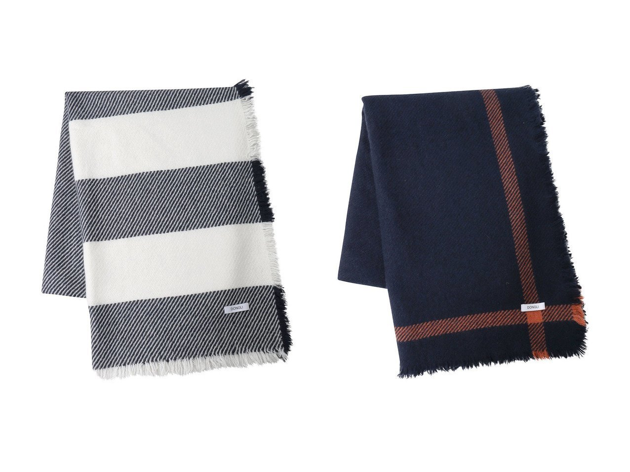 【DONGLI/ドンリー】のHALF BLANCKET&CROSS LINE BLANKET 【FURNITURE】おすすめ!人気、インテリア雑貨・家具の通販  おすすめで人気の流行・トレンド、ファッションの通販商品 インテリア・家具・メンズファッション・キッズファッション・レディースファッション・服の通販 founy(ファニー) https://founy.com/ UNISEX ブランケット ボーダー 防寒 カシミヤ フリンジ  ID:crp329100000072326