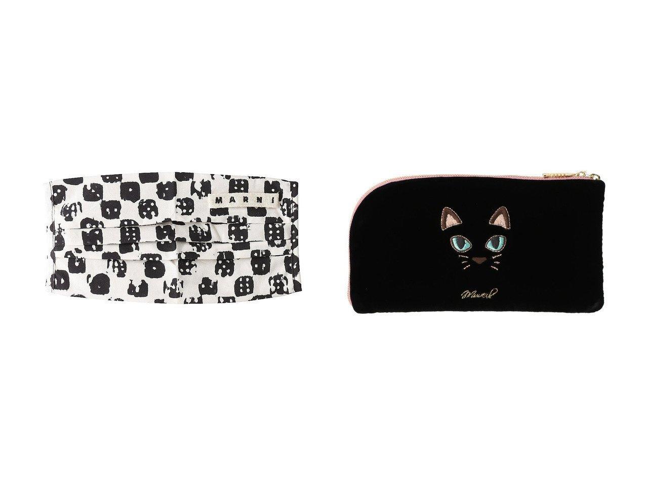 【MUVEIL/ミュベール】のネコマスクケース&【MARNI/マルニ】のマスクカバー&ケース 【FURNITURE】おすすめ!人気、インテリア雑貨・家具の通販  おすすめで人気の流行・トレンド、ファッションの通販商品 インテリア・家具・メンズファッション・キッズファッション・レディースファッション・服の通販 founy(ファニー) https://founy.com/ ジップ ネコ フォルム  ID:crp329100000072335
