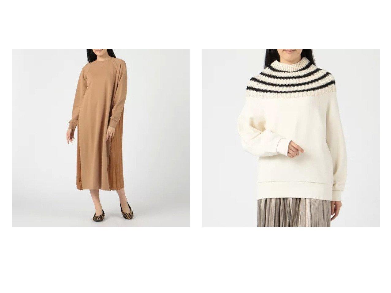 【Munich/ミューニック】のfrench terry x wrinkle satin docking ワンピース&french terry x knit docking sweat おすすめ!人気、トレンド・レディースファッションの通販 おすすめで人気の流行・トレンド、ファッションの通販商品 インテリア・家具・メンズファッション・キッズファッション・レディースファッション・服の通販 founy(ファニー) https://founy.com/ ファッション Fashion レディースファッション WOMEN トップス・カットソー Tops/Tshirt ニット Knit Tops パーカ Sweats スウェット Sweat ワンピース Dress ニットワンピース Knit Dresses スウェット セーター デコルテ ドッキング フレンチ 長袖 |ID:crp329100000072372