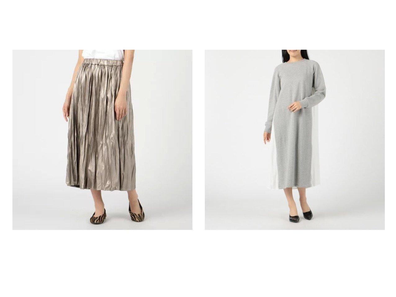【Munich/ミューニック】のfrench terry x wrinkle satin docking ワンピース&wrinkle light leather gathered skirt おすすめ!人気、トレンド・レディースファッションの通販 おすすめで人気の流行・トレンド、ファッションの通販商品 インテリア・家具・メンズファッション・キッズファッション・レディースファッション・服の通販 founy(ファニー) https://founy.com/ ファッション Fashion レディースファッション WOMEN スカート Skirt ワンピース Dress ニットワンピース Knit Dresses エレガント ギャザー マキシ ロング サテン ドッキング フロント ミックス 洗える 長袖 |ID:crp329100000072373