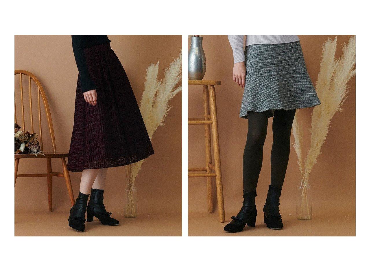 【TOCCA/トッカ】の【TOCCA LAVENDER】Checkerd Flocky Lace Skirt スカート&【TOCCA LAVENER】Candy Eco Tweed Mini Skirt スカート 【スカート】おすすめ!人気、トレンド・レディースファッションの通販 おすすめで人気の流行・トレンド、ファッションの通販商品 インテリア・家具・メンズファッション・キッズファッション・レディースファッション・服の通販 founy(ファニー) https://founy.com/ ファッション Fashion レディースファッション WOMEN スカート Skirt ミニスカート Mini Skirts 送料無料 Free Shipping |ID:crp329100000072545