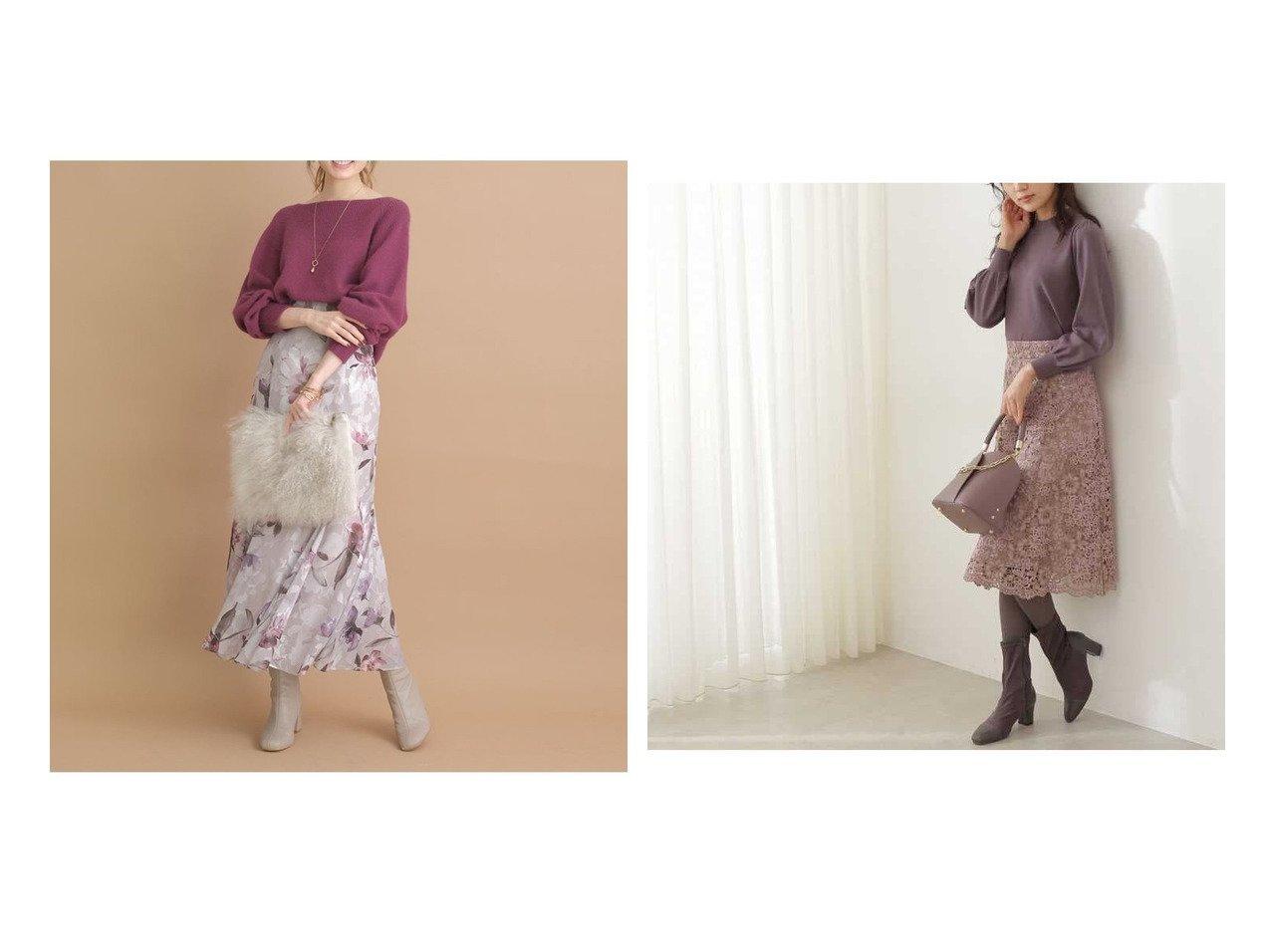 【PROPORTION BODY DRESSING/プロポーション ボディドレッシング】のツートーンケミカルレースフレアスカート&【Apuweiser-riche/アプワイザーリッシェ】のマーメイドプリントスカート 【スカート】おすすめ!人気、トレンド・レディースファッションの通販 おすすめで人気の流行・トレンド、ファッションの通販商品 インテリア・家具・メンズファッション・キッズファッション・レディースファッション・服の通販 founy(ファニー) https://founy.com/ ファッション Fashion レディースファッション WOMEN スカート Skirt Aライン/フレアスカート Flared A-Line Skirts ショート フェミニン フレア ワーク 秋 Autumn/Fall エレガント フラワー プリント |ID:crp329100000072556