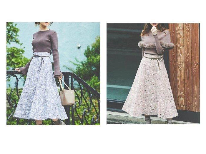 【Noela/ノエラ】のオパールレーススカート 【スカート】おすすめ!人気、トレンド・レディースファッションの通販 おすすめ人気トレンドファッション通販アイテム 人気、トレンドファッション・服の通販 founy(ファニー)  ファッション Fashion レディースファッション WOMEN スカート Skirt Aライン/フレアスカート Flared A-Line Skirts フレア リボン レース |ID:crp329100000072560