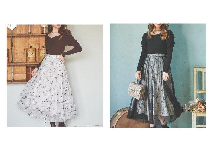 【Noela/ノエラ】のフロッキーエアリーエアリースカート 【スカート】おすすめ!人気、トレンド・レディースファッションの通販 おすすめ人気トレンドファッション通販アイテム 人気、トレンドファッション・服の通販 founy(ファニー)  ファッション Fashion レディースファッション WOMEN スカート Skirt Aライン/フレアスカート Flared A-Line Skirts エアリー エレガント フェミニン フレア レース |ID:crp329100000072565