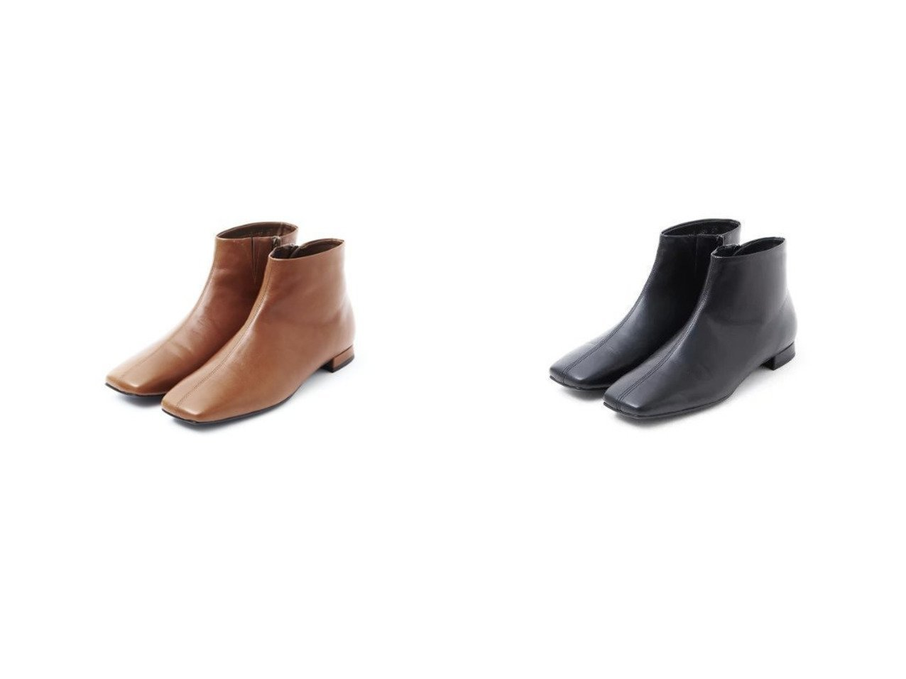 【Piche Abahouse/ピシェ アバハウス】の【最高ブーツ/パリ】ローヒールスクエアトゥブーツ 【シューズ・靴】おすすめ!人気、トレンド・レディースファッションの通販 おすすめで人気の流行・トレンド、ファッションの通販商品 インテリア・家具・メンズファッション・キッズファッション・レディースファッション・服の通販 founy(ファニー) https://founy.com/ ファッション Fashion レディースファッション WOMEN アンクル 秋 Autumn/Fall ガラス クッション シューズ シンプル フラット プレミアム ミドル 日本製 Made in Japan |ID:crp329100000072582