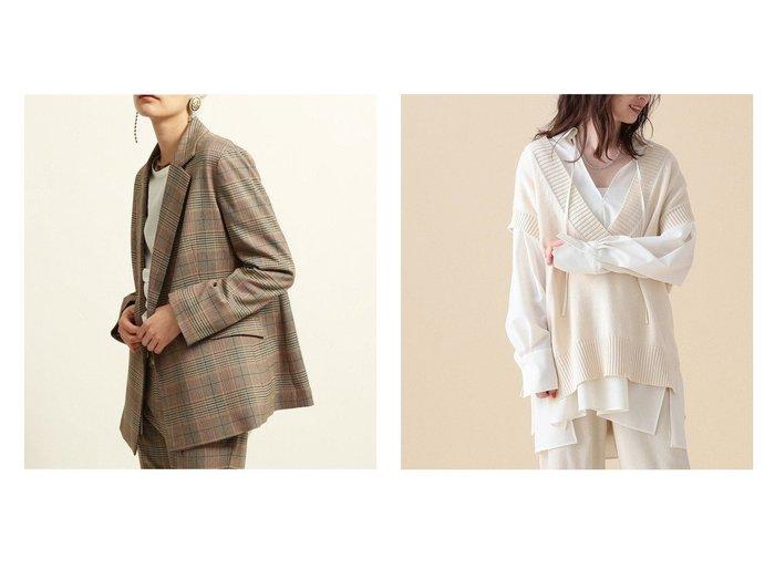【Demi-Luxe BEAMS/デミルクス ビームス】のDemi- コットン ギマ ベスト&【Ray BEAMS/レイ ビームス】のチェック 2ボタン ダブルジャケット 【アウター】おすすめ!人気、トレンド・レディースファッションの通販 おすすめ人気トレンドファッション通販アイテム 人気、トレンドファッション・服の通販 founy(ファニー) ファッション Fashion レディースファッション WOMEN アウター Coat Outerwear トップス・カットソー Tops/Tshirt ニット Knit Tops ベスト/ジレ Gilets/Vests コート Coats ジャケット Jackets テーラードジャケット Tailored Jackets インナー スリーブ 長袖 ベスト おすすめ Recommend ジャケット ストレッチ セットアップ ダブル チェック ベーシック |ID:crp329100000072621