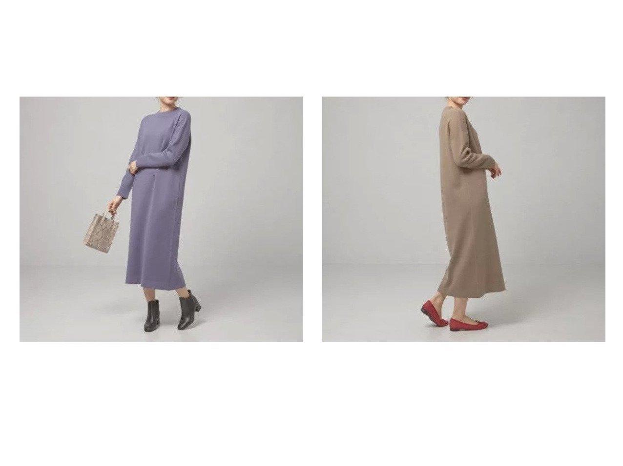 【THE STATION STORE / UNITED ARROWS/ザ ステーション ストア】のハイネック ロング ニットワンピース -ウォッシャブル- 【ワンピース・ドレス】おすすめ!人気、トレンド・レディースファッションの通販 おすすめで人気の流行・トレンド、ファッションの通販商品 インテリア・家具・メンズファッション・キッズファッション・レディースファッション・服の通販 founy(ファニー) https://founy.com/ ファッション Fashion レディースファッション WOMEN ワンピース Dress ニットワンピース Knit Dresses アクセサリー ウォッシャブル エレガント ショルダー シンプル スニーカー ドロップ 長袖 ハイネック リラックス ロング  ID:crp329100000072635