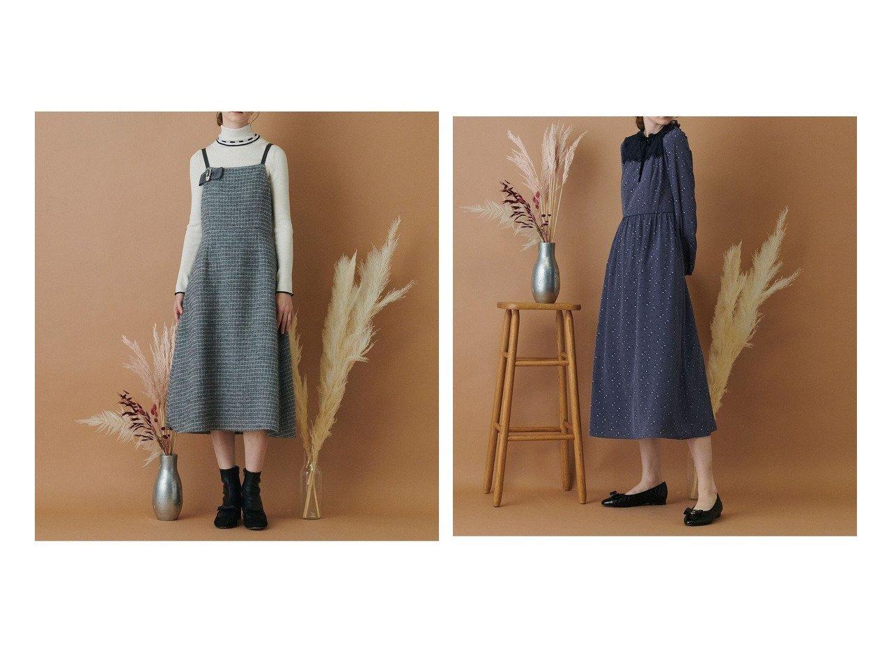 【TOCCA/トッカ】の【TOCCA LAVENDER】Candy Eco Tweed Jumper Dress ドレス&【TOCCA LAVENDER】Little Rose Classic Long Dress ロングドレス 【ワンピース・ドレス】おすすめ!人気、トレンド・レディースファッションの通販 おすすめで人気の流行・トレンド、ファッションの通販商品 インテリア・家具・メンズファッション・キッズファッション・レディースファッション・服の通販 founy(ファニー) https://founy.com/ ファッション Fashion レディースファッション WOMEN ワンピース Dress ドレス Party Dresses 送料無料 Free Shipping ドレス ロング イタリア シンプル ツイード バランス ファブリック フレア  ID:crp329100000072643