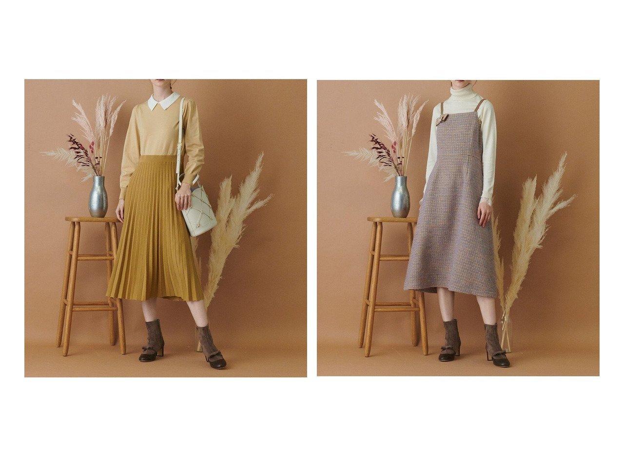 【TOCCA/トッカ】の【TOCCA LAVENDER】Candy Eco Tweed Jumper Dress ドレス&【TOCCA LAVENDER】Collared Pleats Knitdess ニットドレス 【ワンピース・ドレス】おすすめ!人気、トレンド・レディースファッションの通販 おすすめで人気の流行・トレンド、ファッションの通販商品 インテリア・家具・メンズファッション・キッズファッション・レディースファッション・服の通販 founy(ファニー) https://founy.com/ ファッション Fashion レディースファッション WOMEN ワンピース Dress ドレス Party Dresses ニットワンピース Knit Dresses 送料無料 Free Shipping ドレス イタリア シンプル ツイード バランス ファブリック フレア  ID:crp329100000072645