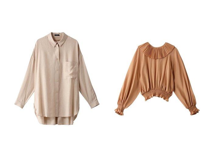 【WRINN/リン】のSHIRT&BLOUSE 【トップス・カットソー】おすすめ!人気、トレンド・レディースファッションの通販 おすすめ人気トレンドファッション通販アイテム 人気、トレンドファッション・服の通販 founy(ファニー) ファッション Fashion レディースファッション WOMEN トップス・カットソー Tops/Tshirt シャツ/ブラウス Shirts/Blouses エアリー シアー スリーブ ロング 長袖 シャーリング パーティ フェミニン フリル プリーツ  ID:crp329100000072652