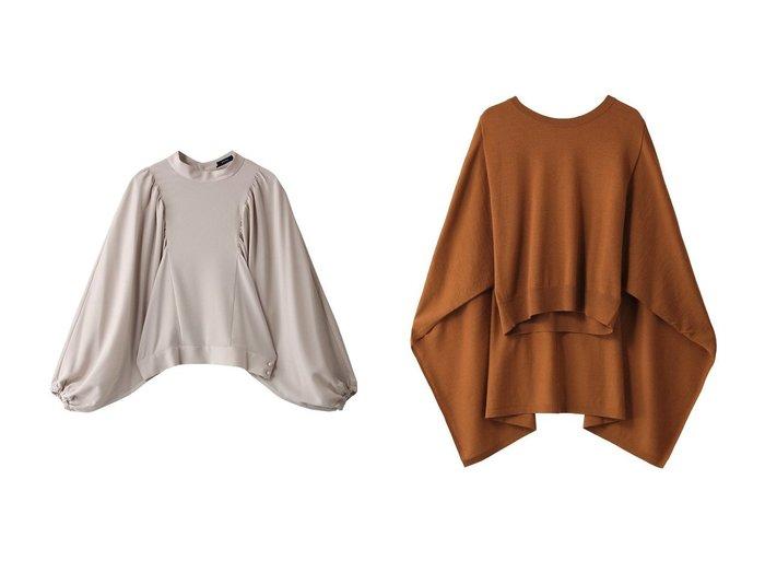 【WRINN/リン】のBLOUSE&KNIT 【トップス・カットソー】おすすめ!人気、トレンド・レディースファッションの通販 おすすめ人気トレンドファッション通販アイテム 人気、トレンドファッション・服の通販 founy(ファニー) ファッション Fashion レディースファッション WOMEN トップス・カットソー Tops/Tshirt シャツ/ブラウス Shirts/Blouses ニット Knit Tops プルオーバー Pullover エアリー シアー スタンド スリット スリーブ パーティ ロング コンパクト シンプル フロント  ID:crp329100000072653