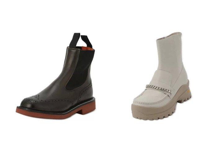 【G.V.G.V./ジーヴィージーヴィ】のLOAFER ANKLE BOOTS&【beautiful people/ビューティフル ピープル】のTrickers color sole side gore boots W 【シューズ・靴】おすすめ!人気、トレンド・レディースファッションの通販 おすすめ人気トレンドファッション通販アイテム 人気、トレンドファッション・服の通販 founy(ファニー) ファッション Fashion レディースファッション WOMEN 2021年 2021 2021-2022秋冬・A/W AW・Autumn/Winter・FW・Fall-Winter・2021-2022 A/W・秋冬 AW・Autumn/Winter・FW・Fall-Winter ウエスタン シューズ ショート 軽量 アンクル チェーン ドッキング メタル  ID:crp329100000073254