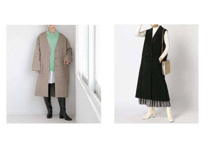 【JEANASiS/ジーナシス】のWフェイスシャギーLベスト&【LOWRYS FARM/ローリーズファーム】のメリノノーカラーコート 【アウター】おすすめ!人気、トレンド・レディースファッションの通販 おすすめ人気トレンドファッション通販アイテム 人気、トレンドファッション・服の通販 founy(ファニー) ファッション Fashion レディースファッション WOMEN アウター Coat Outerwear コート Coats ジャケット Jackets ショート ジャケット バランス 防寒 ロング NEW・新作・新着・新入荷 New Arrivals ストレート ベスト  ID:crp329100000073406