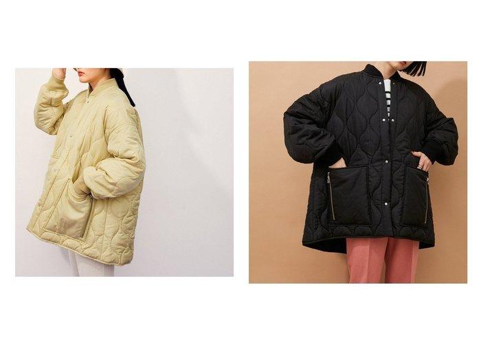 【ADAM ET ROPE'/アダム エ ロペ】のキルティングショートコート 【アウター】おすすめ!人気、トレンド・レディースファッションの通販 おすすめ人気トレンドファッション通販アイテム 人気、トレンドファッション・服の通販 founy(ファニー) ファッション Fashion レディースファッション WOMEN アウター Coat Outerwear コート Coats ジャケット Jackets ブルゾン Blouson/Jackets イエロー キルティング キルト 今季 ショート ジップ ジャケット ストレート スラックス スリット スリーブ タフタ ドット フォルム ブルゾン ベーシック ポケット ミリタリー リラックス ロング A/W・秋冬 AW・Autumn/Winter・FW・Fall-Winter 2021年 2021 2021-2022秋冬・A/W AW・Autumn/Winter・FW・Fall-Winter・2021-2022 おすすめ Recommend |ID:crp329100000073986