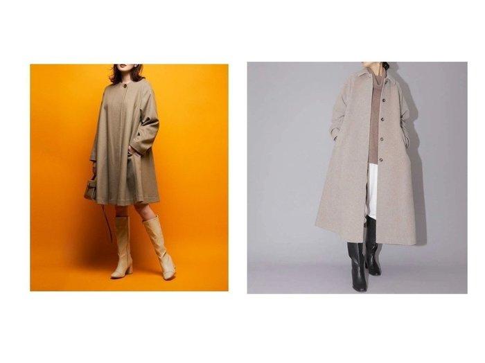 【NATURAL BEAUTY BASIC/ナチュラル ビューティー ベーシック】のボリュームAラインコート&【CELFORD/セルフォード】のノーカラーAラインコート 【アウター】おすすめ!人気、トレンド・レディースファッションの通販 おすすめ人気トレンドファッション通販アイテム 人気、トレンドファッション・服の通販 founy(ファニー) ファッション Fashion レディースファッション WOMEN アウター Coat Outerwear コート Coats Aラインコート A-Line Coats ジャケット Jackets ノーカラージャケット No Collar Leather Jackets トレンド ボックス イタリア カシミヤ ジャケット スマート バランス メタル |ID:crp329100000074417