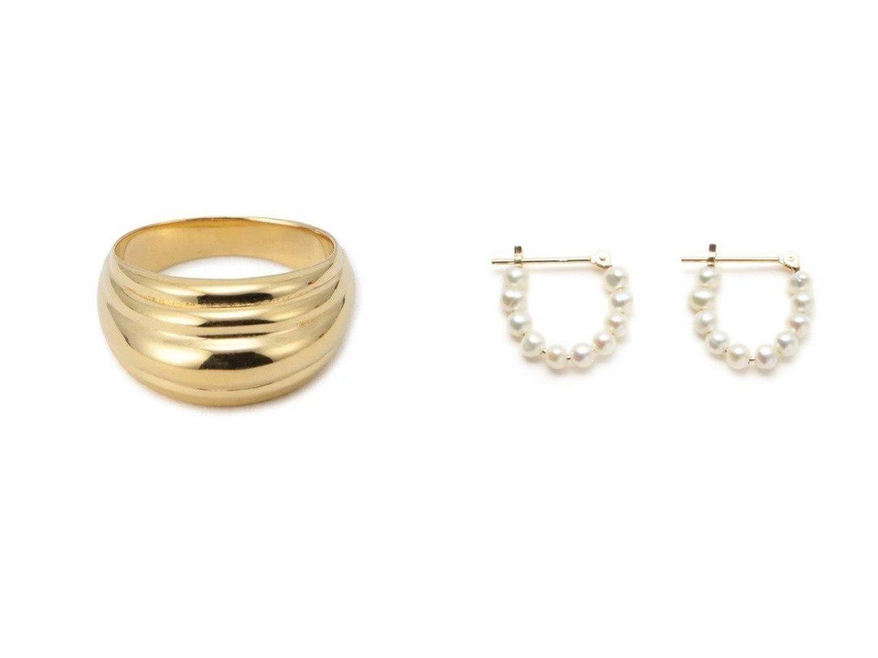 【SOPHIE BUHAI/ソフィー ブハイ】のGold Blondeau Pinky Ring&【M7days bijoux/エムセブンデイズ ビジュー】のK10パールラウンドピアス おすすめ!人気、トレンド・レディースファッションの通販 おすすめで人気の流行・トレンド、ファッションの通販商品 インテリア・家具・メンズファッション・キッズファッション・レディースファッション・服の通販 founy(ファニー) https://founy.com/ 雑誌掲載アイテム Magazine Items ファッション雑誌 Fashion Magazines マリソル Marisol ファッション Fashion レディースファッション WOMEN 11月号 アクセサリー パール フェミニン 雑誌 フォルム フロント |ID:crp329100000074594