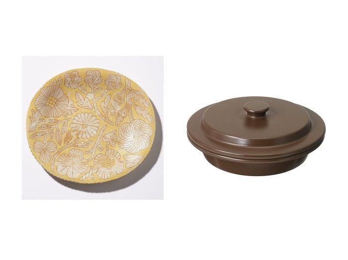 【MAKOTO KAGOSHIMA/鹿児島 睦】の【ELLE DIGITAL 25th限定】Makoto Kagoshima Handmade Oval Plate&【PETARI/ペタリ】の【ELLE DIGITAL 25th限定】Shallow Pot(Dark Brown) 【FURNITURE】おすすめ!人気、インテリア雑貨・家具の通販  おすすめ人気トレンドファッション通販アイテム 人気、トレンドファッション・服の通販 founy(ファニー) UNISEX スタイリッシュ テーブル オーバル ファブリック プレート 人気 鹿児島 ホーム・キャンプ・アウトドア Home,Garden,Outdoor,Camping Gear キッチン・ダイニング Kitchen Dining キッチン収納 Kitchen  ID:crp329100000074795