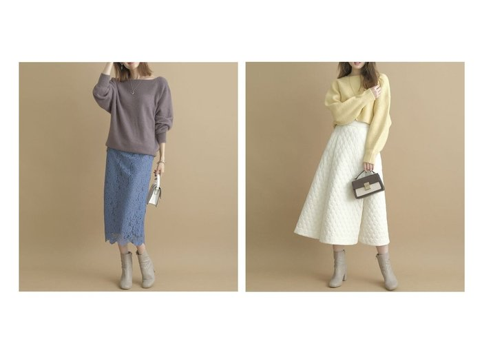 【Apuweiser-riche/アプワイザーリッシェ】のカラーコードレースタイトスカート&キルティングフレアスカート 【スカート】おすすめ!人気、トレンド・レディースファッションの通販 おすすめ人気トレンドファッション通販アイテム 人気、トレンドファッション・服の通販 founy(ファニー) ファッション Fashion レディースファッション WOMEN スカート Skirt Aライン/フレアスカート Flared A-Line Skirts NEW・新作・新着・新入荷 New Arrivals キルティング ギャザー フレア モダン おすすめ Recommend スマート タイトスカート ダウン レース  ID:crp329100000074887
