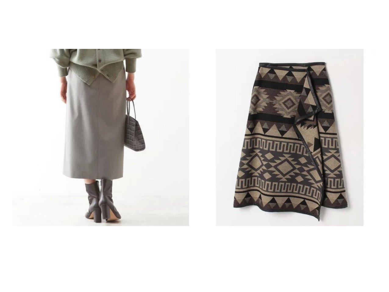 【HOUSE OF LOTUS/ハウス オブ ロータス】のパネルジャガードラップスカート&【martinique/マルティニーク】のドライウールタイトスカート 【スカート】おすすめ!人気、トレンド・レディースファッションの通販 おすすめで人気の流行・トレンド、ファッションの通販商品 インテリア・家具・メンズファッション・キッズファッション・レディースファッション・服の通販 founy(ファニー) https://founy.com/ ファッション Fashion レディースファッション WOMEN スカート Skirt フレア マキシ ラップ ロング  ID:crp329100000074893