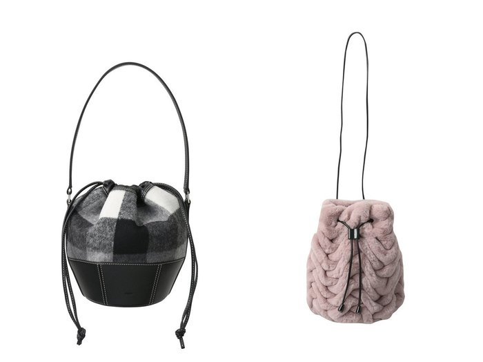 【Faviora Class/ファビオラ クラス】の【Faviora Faux Fur】フェイクファーバッグ(スモッキング)&【VASIC/ヴァジック】のGem-Wool 巾着ハンドバッグ 【バッグ・鞄】おすすめ!人気、トレンド・レディースファッションの通販 おすすめ人気トレンドファッション通販アイテム 人気、トレンドファッション・服の通販 founy(ファニー) ファッション Fashion レディースファッション WOMEN バッグ Bag スモッキング パーティ フェイクファー フォルム ラグジュアリー ラップ 今季 A/W・秋冬 AW・Autumn/Winter・FW・Fall-Winter チェック ドローストリング ハンドバッグ ポケット 巾着 |ID:crp329100000075190