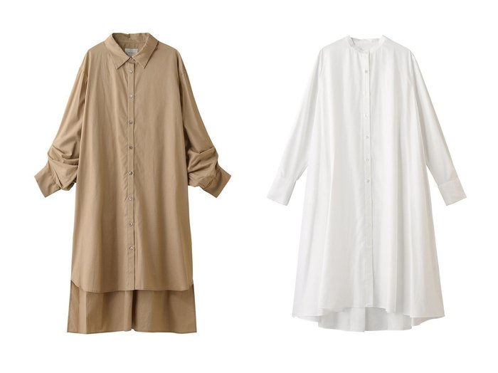 【MIDIUMISOLID/ミディウミソリッド】のワンピース&シャツワンピース 【ワンピース・ドレス】おすすめ!人気、トレンド・レディースファッションの通販 おすすめ人気トレンドファッション通販アイテム 人気、トレンドファッション・服の通販 founy(ファニー) ファッション Fashion レディースファッション WOMEN ワンピース Dress シャツワンピース Shirt Dresses チュニック Tunic ギャザー チュニック ドレープ フレア ロング 羽織 |ID:crp329100000075250