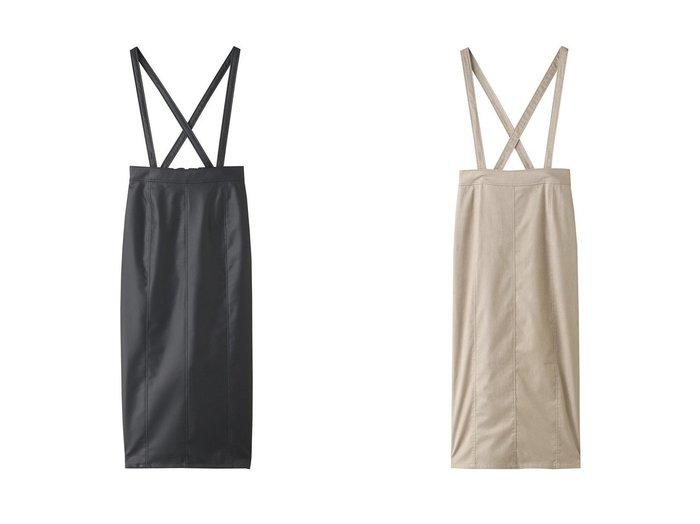 【three dots/スリー ドッツ】のフェイクレザージャンパースカート&スエードジャンパースカート 【スカート】おすすめ!人気、トレンド・レディースファッションの通販 おすすめ人気トレンドファッション通販アイテム 人気、トレンドファッション・服の通販 founy(ファニー) ファッション Fashion レディースファッション WOMEN スカート Skirt ロングスカート Long Skirt おすすめ Recommend サスペンダー シンプル スエード セットアップ ロング |ID:crp329100000075462