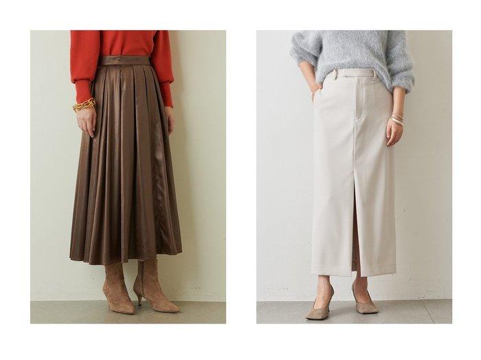 【Whim Gazette/ウィムガゼット】のサテンギャザースカート&ストレッチタイトスカート 【スカート】おすすめ!人気、トレンド・レディースファッションの通販 おすすめ人気トレンドファッション通販アイテム 人気、トレンドファッション・服の通販 founy(ファニー) ファッション Fashion レディースファッション WOMEN スカート Skirt ロングスカート Long Skirt ストレッチ スリット フロント ポケット ロング サテン フレア 軽量 |ID:crp329100000075467