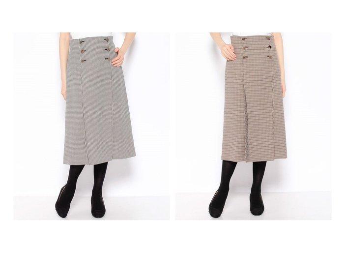 【ANAYI/アナイ】のチェックタックスカート 【スカート】おすすめ!人気、トレンド・レディースファッションの通販 おすすめ人気トレンドファッション通販アイテム 人気、トレンドファッション・服の通販 founy(ファニー) ファッション Fashion レディースファッション WOMEN スカート Skirt Aライン/フレアスカート Flared A-Line Skirts A/W・秋冬 AW・Autumn/Winter・FW・Fall-Winter 冬 Winter クラシカル スリット ダブル チェック ツイル フロント プリーツ ロング 再入荷 Restock/Back in Stock/Re Arrival  ID:crp329100000075469
