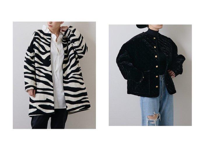 【Whim Gazette/ウィムガゼット】のベロアキルトブルゾン&ZEBRAニットコート 【アウター】おすすめ!人気、トレンド・レディースファッションの通販 おすすめ人気トレンドファッション通販アイテム 人気、トレンドファッション・服の通販 founy(ファニー) ファッション Fashion レディースファッション WOMEN アウター Coat Outerwear ジャケット Jackets ブルゾン Blouson/Jackets コート Coats エレガント キルティング キルト クラシカル シルク ジャケット フォルム ブルゾン ベルベット ベロア ポケット ワイド カーディガン パターン フラット モノトーン ロング |ID:crp329100000075512