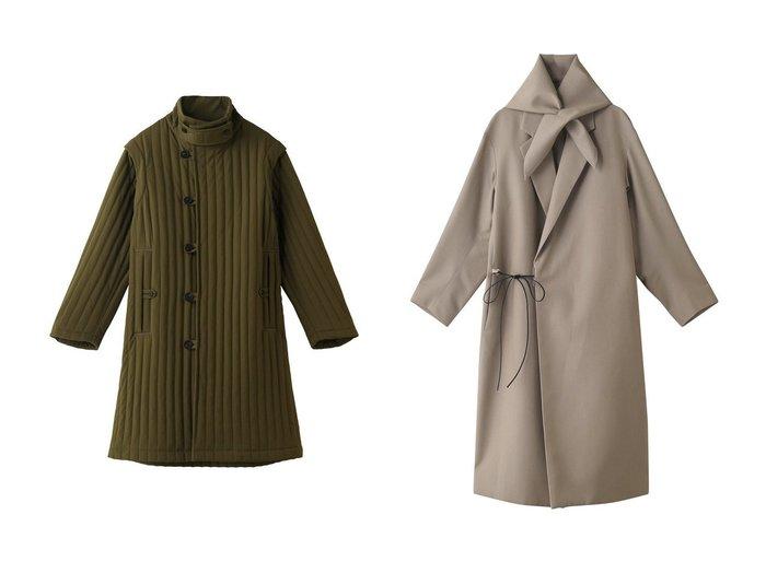 【Chaos/カオス】のSEEALL テクニカルコート&SEEALL スカーフコート 【アウター】おすすめ!人気、トレンド・レディースファッションの通販 おすすめ人気トレンドファッション通販アイテム 人気、トレンドファッション・服の通販 founy(ファニー) ファッション Fashion レディースファッション WOMEN アウター Coat Outerwear コート Coats キルティング シンプル スタンド ストライプ ノースリーブ ロング |ID:crp329100000075899